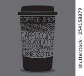 vintage coffee mug typography ... | Shutterstock .eps vector #354158879