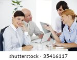 business meeting  ambitious... | Shutterstock . vector #35416117