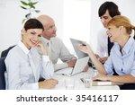 business meeting  ambitious... | Shutterstock . vector #35416117