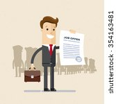manager  employee. a man in a... | Shutterstock .eps vector #354163481