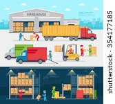 warehouse infographic elements... | Shutterstock .eps vector #354177185