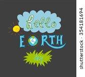 vector illustration of earth... | Shutterstock .eps vector #354181694
