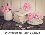 pink pastel carnation flowers... | Shutterstock . vector #354183035