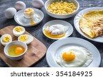 different ways of cooking eggs   Shutterstock . vector #354184925