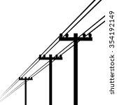 electricity pole vector | Shutterstock .eps vector #354192149