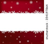 red winter card with white snow ... | Shutterstock .eps vector #354197864