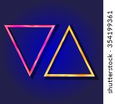 vector   set of neon laser...   Shutterstock .eps vector #354199361