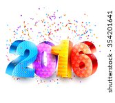 2016 new year background with... | Shutterstock .eps vector #354201641
