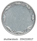 empty silver coin isolated on a ... | Shutterstock . vector #354210017