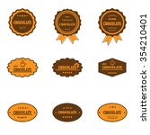 set of retro chocolate labels... | Shutterstock .eps vector #354210401