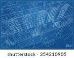 abstract 3d render of building... | Shutterstock .eps vector #354210905