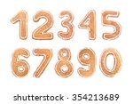 new year's set of numbers from... | Shutterstock . vector #354213689