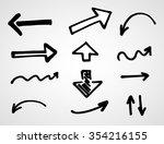 hand drawn arrows  vector set  | Shutterstock .eps vector #354216155