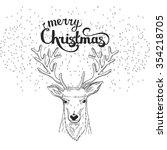 christmas and new year hand... | Shutterstock . vector #354218705