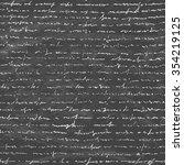 handwriting letter on the... | Shutterstock .eps vector #354219125