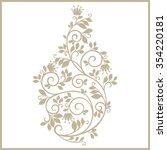 vintage stylized floral pattern.... | Shutterstock .eps vector #354220181