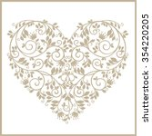 Vintage Stylized Floral Heart....