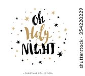 holy night. christmas greeting... | Shutterstock .eps vector #354220229