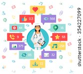 web life of doctor or nurse... | Shutterstock .eps vector #354227099