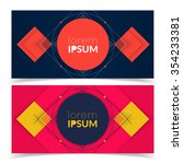 geometric banners for web design