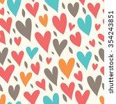 seamless romantic background... | Shutterstock .eps vector #354243851