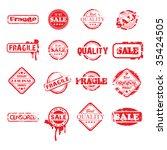 set of twelve stamps | Shutterstock .eps vector #35424505