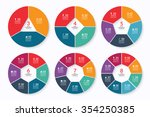 infographic circle banners set. ... | Shutterstock .eps vector #354250385