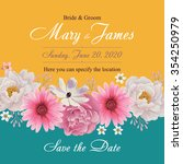 flower wedding invitation card  ...   Shutterstock .eps vector #354250979
