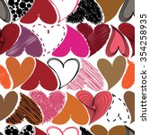 seamless pattern with hearts.... | Shutterstock . vector #354258935