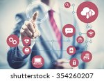 technology future network... | Shutterstock . vector #354260207
