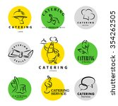 template of catering company... | Shutterstock . vector #354262505