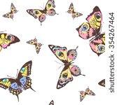 butterflies design | Shutterstock . vector #354267464