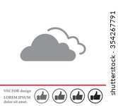 clouds icon  vector... | Shutterstock .eps vector #354267791