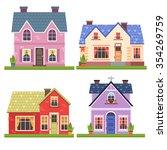 set of four vector illustration ... | Shutterstock .eps vector #354269759