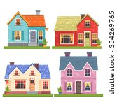 set of four vector illustration ... | Shutterstock .eps vector #354269765