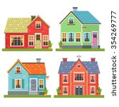 set of four vector illustration ... | Shutterstock .eps vector #354269777