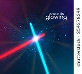 crossed light swords saber on... | Shutterstock .eps vector #354278249
