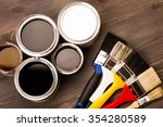 house renovation  paint cans... | Shutterstock . vector #354280589
