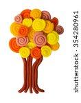 plasticine autumn tree isolated ... | Shutterstock . vector #354280961
