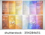 vector set of tri fold brochure ... | Shutterstock .eps vector #354284651