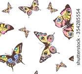 butterflies design | Shutterstock .eps vector #354285554