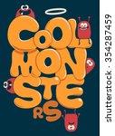 monster vector graphic design | Shutterstock .eps vector #354287459