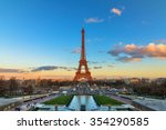 beautiful view of the eiffel... | Shutterstock . vector #354290585
