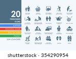 pensioners vector set of modern ... | Shutterstock .eps vector #354290954