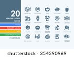 healthy eating vector set of... | Shutterstock .eps vector #354290969