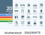 pensioners vector set of modern ... | Shutterstock .eps vector #354290975