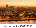 sunset in old havana with a... | Shutterstock . vector #354292361