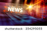 graphical digital news... | Shutterstock . vector #354295055
