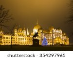 christmas tree in front off... | Shutterstock . vector #354297965