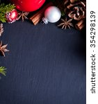 christmas and new year... | Shutterstock . vector #354298139